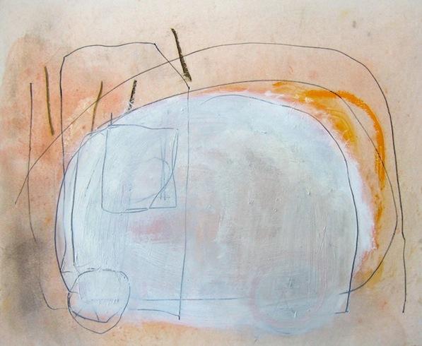 Étude, 2010, technique mixte sur carton, 35,5x43cm (vendu-sold)