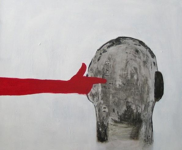 Bang bang, 2011, huile sur bois, 52 x 92 cm (vendu-sold)