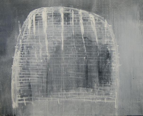 Carcasse 1, 2009, technique mixte sur toile, 122 x 152 cm