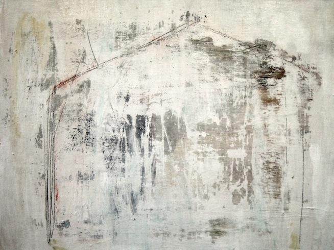 Carcasse 2, 2009, technique mixte sur toile, 92 x122cm (vendu-sold)
