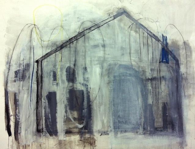 Carcasse 5, 2011, conté et huile sur toile, 144 x 191 cm (vendu-sold)