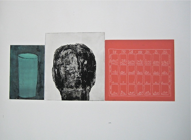Everyday serie (variation 1), 2011, intaglio, monotype, 50 x 65 cmJPG