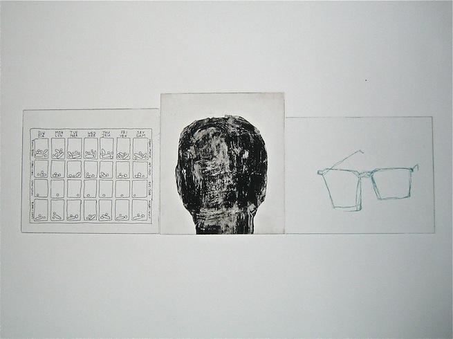 Everyday serie (variation 12), 2011, intaglio monotype, 56 x 76 cm