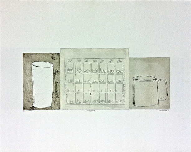 Everyday serie (variation 3), 2011, intaglio monotype, 50 x 65 cm