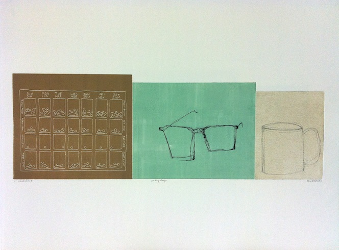 Everyday serie (variation 5), 2011, intaglio monotype, 50 x 65 cm