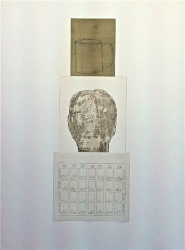 Everyday serie (variation 7), 2011, intaglio, monotype, 76 x 56 cm