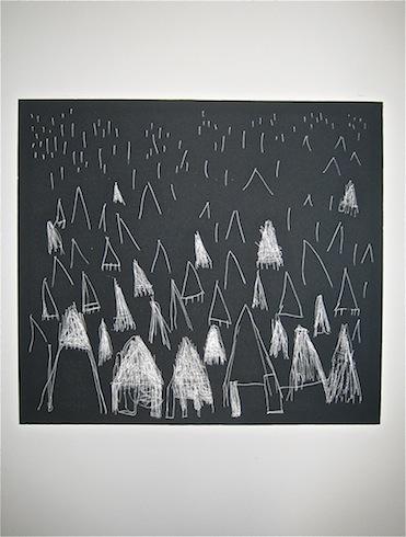 Forêt, 2011, intaglio, monotype