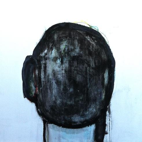 Head painting 10, 2012, huile sur bois, 76 x 76 cm