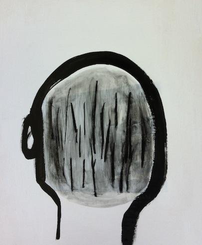 Head painting 11, 2012, huile sur bois, 43 x 35,5 cm (vendu-sold)