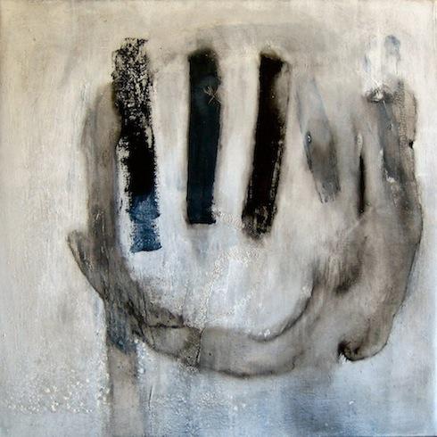 Head painting 3, 2009, huile sur toile, 92 x 92 cm (vendu-sold)