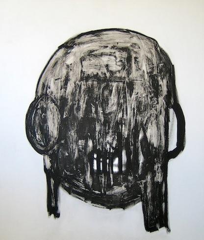 Head painting 6, 2010, huile sur panneau de bois, 183 x 152cm (vendu-sold)