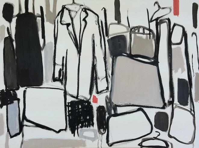 Hoarding (2), 2011, huile sur toile, 92x122cm (vendu-sold)