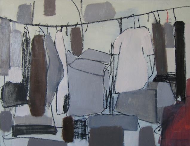 Hoarding, 2010, huile sur toile, 92x122cm (vendu-sold)