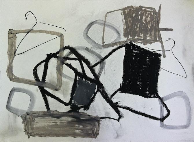 Hoarding (4), 2012, huile sur bois, 56 x 75,5 cm (vendu-sold)