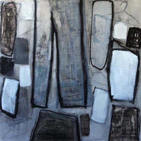 Hoarding 6, 2012, technique mixte sur bois, 92 x 92 cm