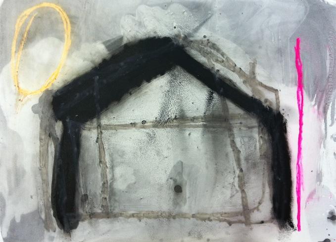 House 2, 2011, huile sur bois 56 x 75 cm