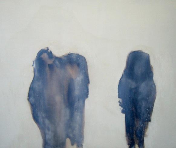 Les marcheurs 2, 2010, huile sur panneau de bois, 122 x 152 cm (vendu-sold)