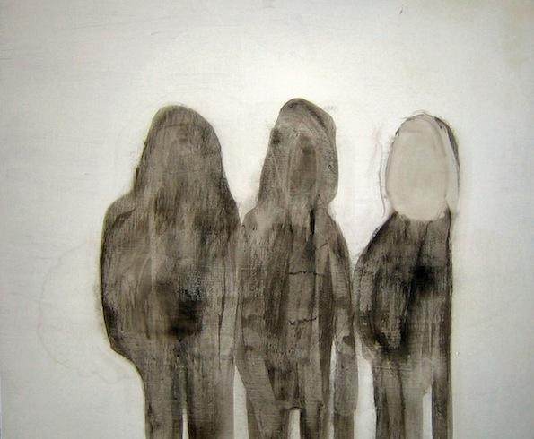 Les marcheurs, 2009, huile sur panneau de bois, 76 x 92 cm (vendu-sold)