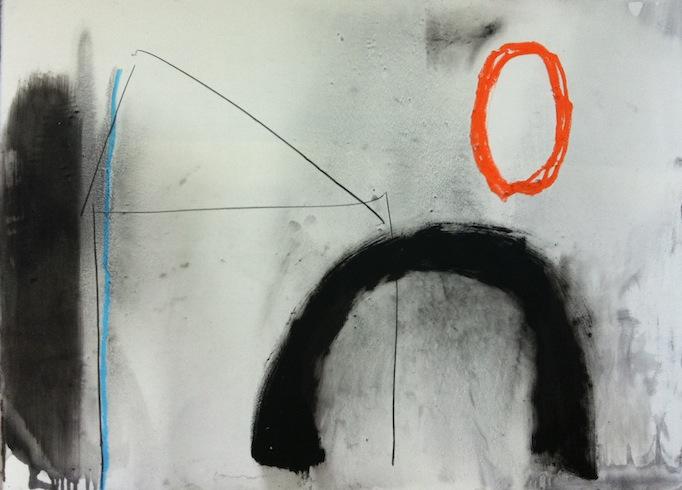 Nowhere, 2011, huile sur bois, 56 x 75,5 cm (vendu-sold)
