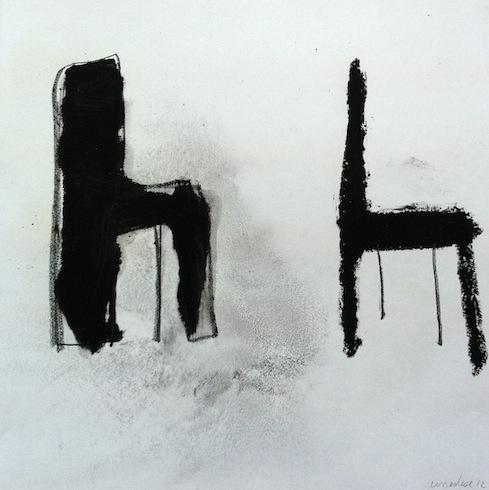 Souper 10, 2012, huile sur papier, 21,5 x 21 cm