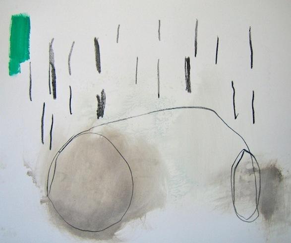 Storm, 2010, technique mixte sur papier, 35,5 x 43 cm (vendu-sold)