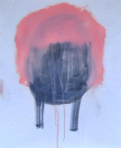 Tête 13, 2010, huile sur papier (collé sur panneau de bois), 43 x 35,5 cm (vendu-sold)