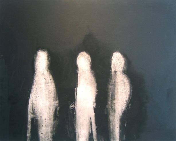 Trace 3, 2011, huile sur bois, 76 x 61cm (vendu-sold)