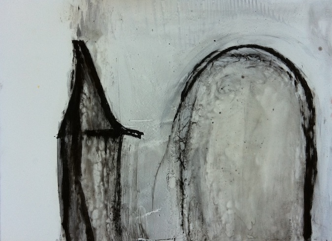 Trace 5, 2011, oil on paper, 56 x 75,5 cm