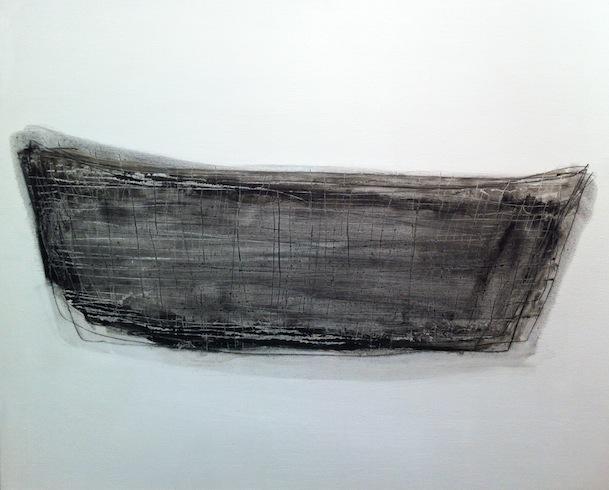 Boat 6, 2013, huile sur panneau de bois, 56 x 76 cm (vendu-sold)