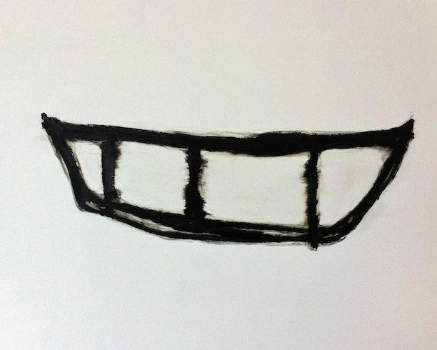 Boat 8, 2013, huile sur panneau de bois, 56 x 76 cm (vendu-sold)