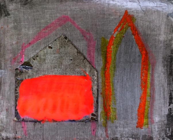 Nowhere 17, 2013, technique mixte sur papier, 20 x 24 cm (vendu-sold)