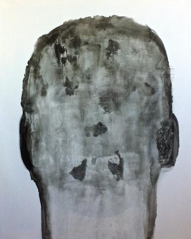 Head painting 21, 2014, huile sur toile, 153 x 122 cm (vendu-sold)