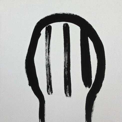 Head painting 23, 2014, huile sur bois, 40,5 40,5 cm