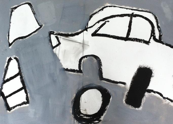 Scrap yard (5), 2014, huile sur papier, 56 x 76 cm