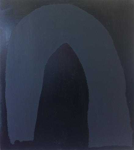 House, 2014, huile sur bois, 74 x 50 cm (vendu-sold)