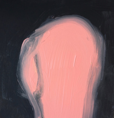 Head painting #29, 2016, acrylique sur bois, 30 x 30 cm