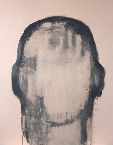 Head painting #32, 2016, acrylique et huile sur toile, 152 x 122 cm (vendu-sold)