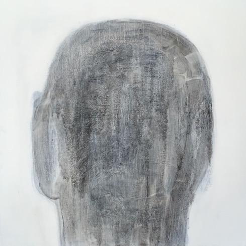 Head painting #28, 2016, huile sur bois, 76 x 76 cm (vendu-sold)