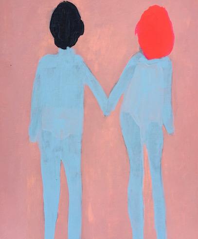Couple (3), 2016, acrylique sur papier, 30 x 25 cm (vendu-sold)