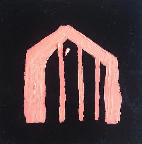 House #5, 2017, acrylique sur bois, 30 x 30 cm