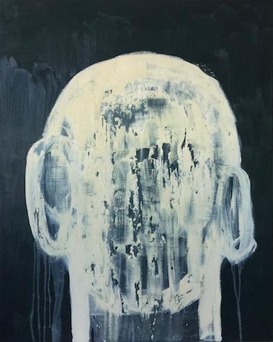 Head painting #34, 2017, acrylique sur toile, 152 x 122 cm