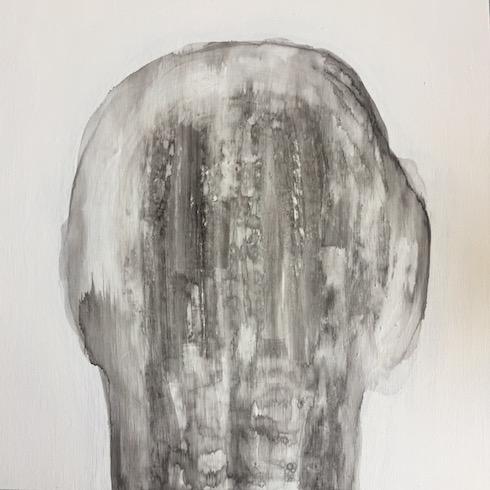 Head painting #37, 2017, acrylique sur bois, 41 x 41 cm