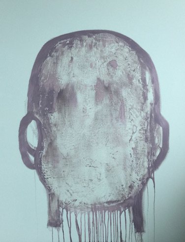 Head painting #35, 2017, acrylique et huile sur toile, 173 x 52 cm