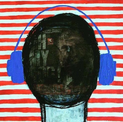 Headphones #13, 2017, technique mixte sur bois (vendu-sold)